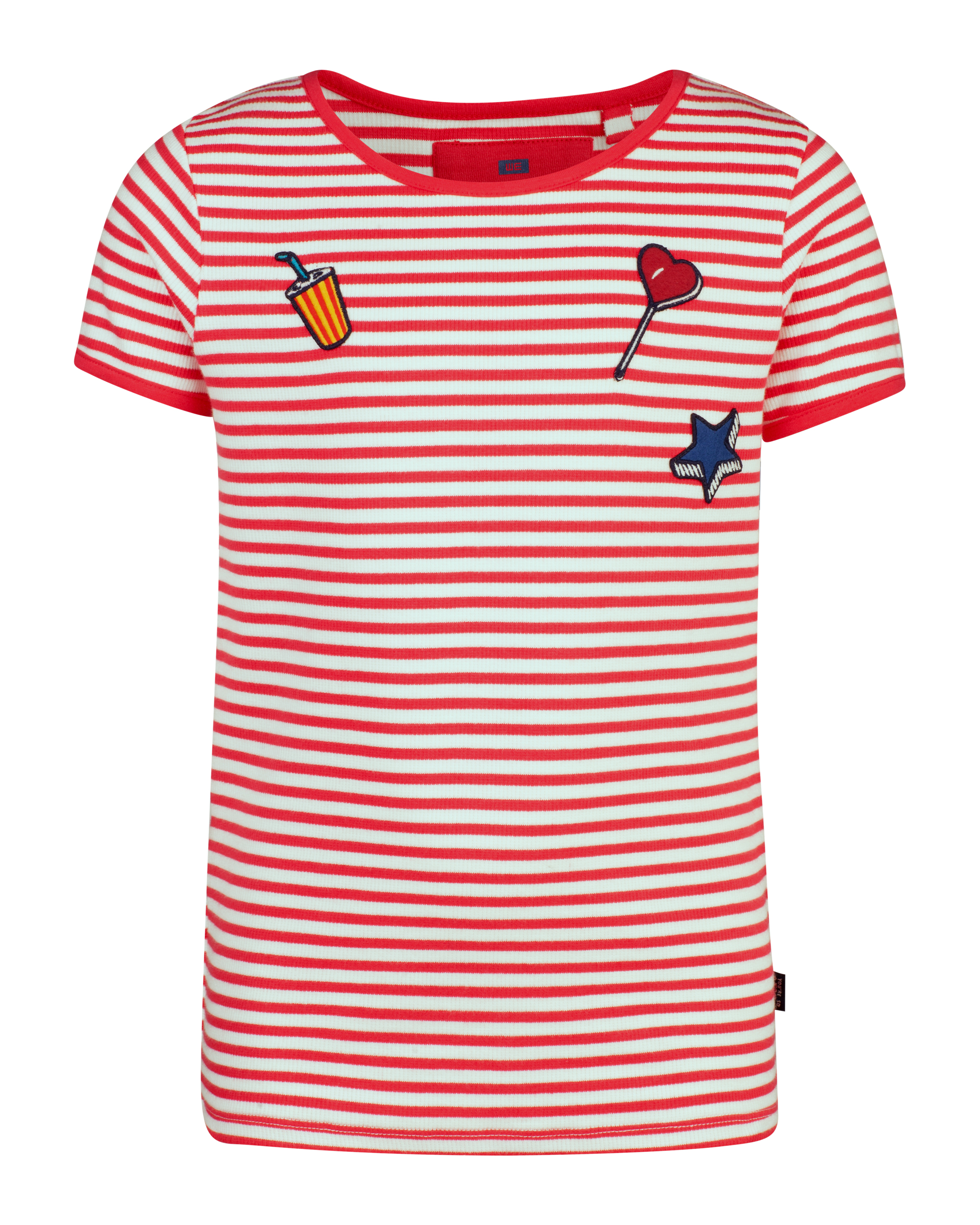 Meisjes striped print t-shirt
