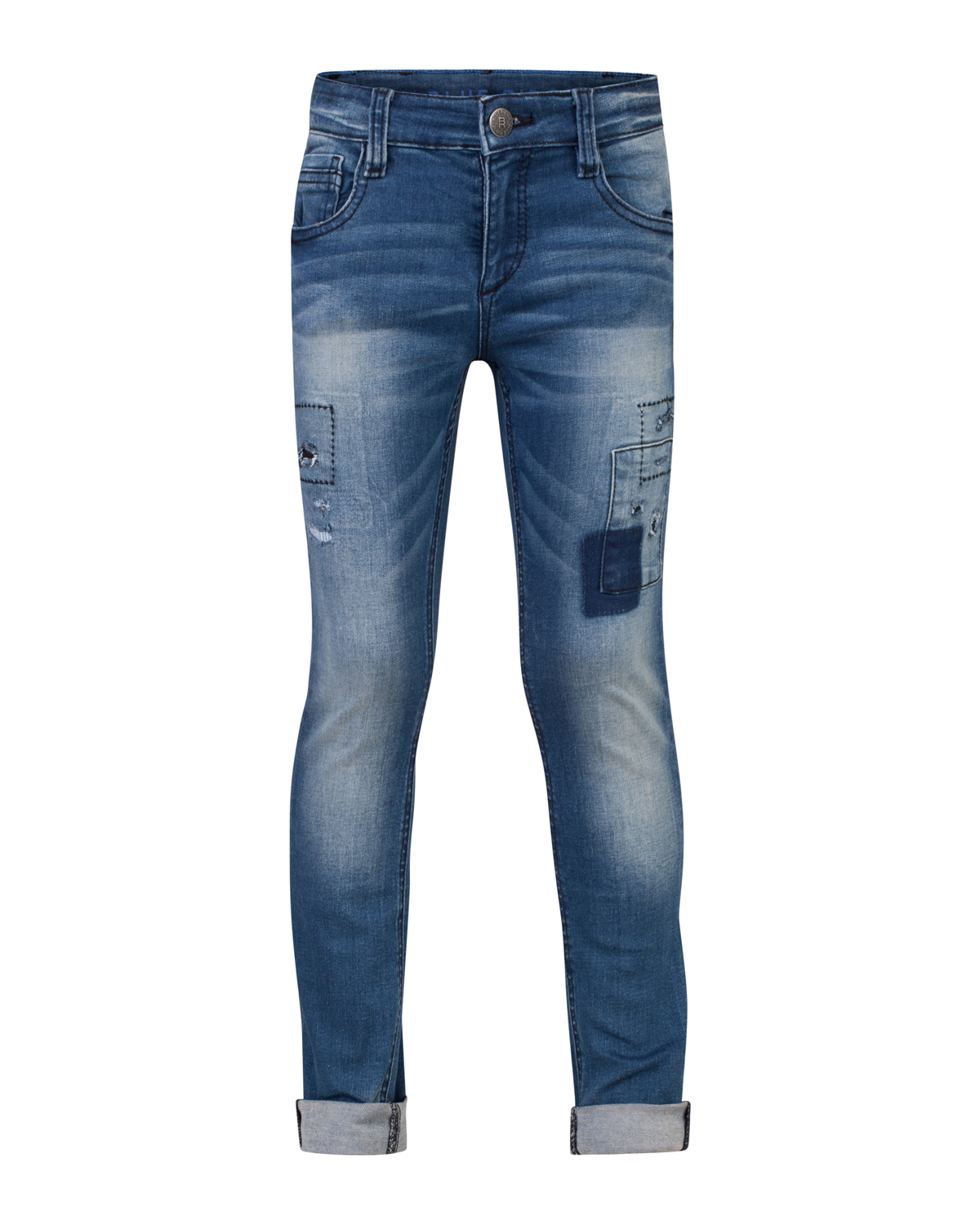 Jongens super skinny power stretch rip  and  repair jeans