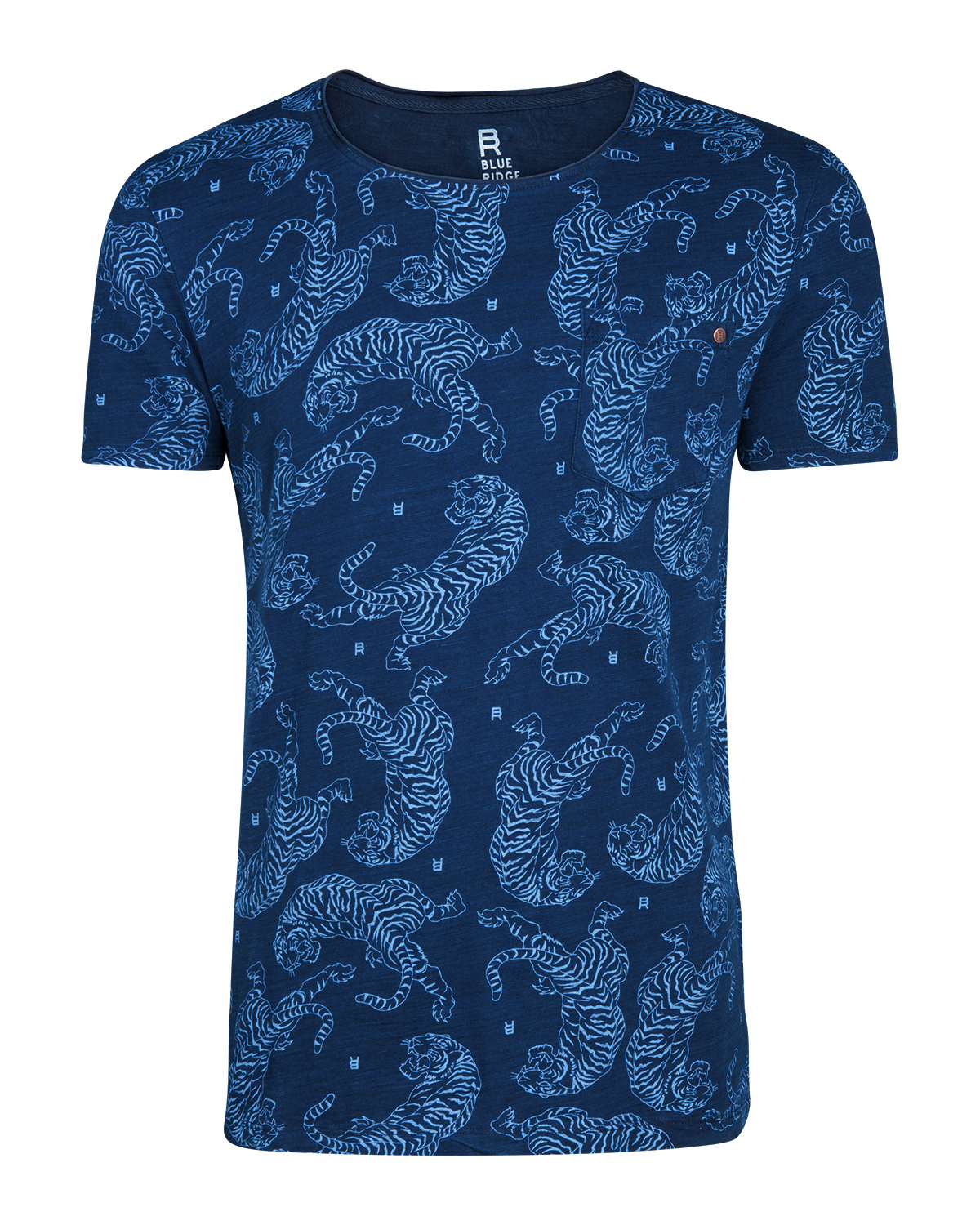 Heren blue ridge tiger print t-shirt