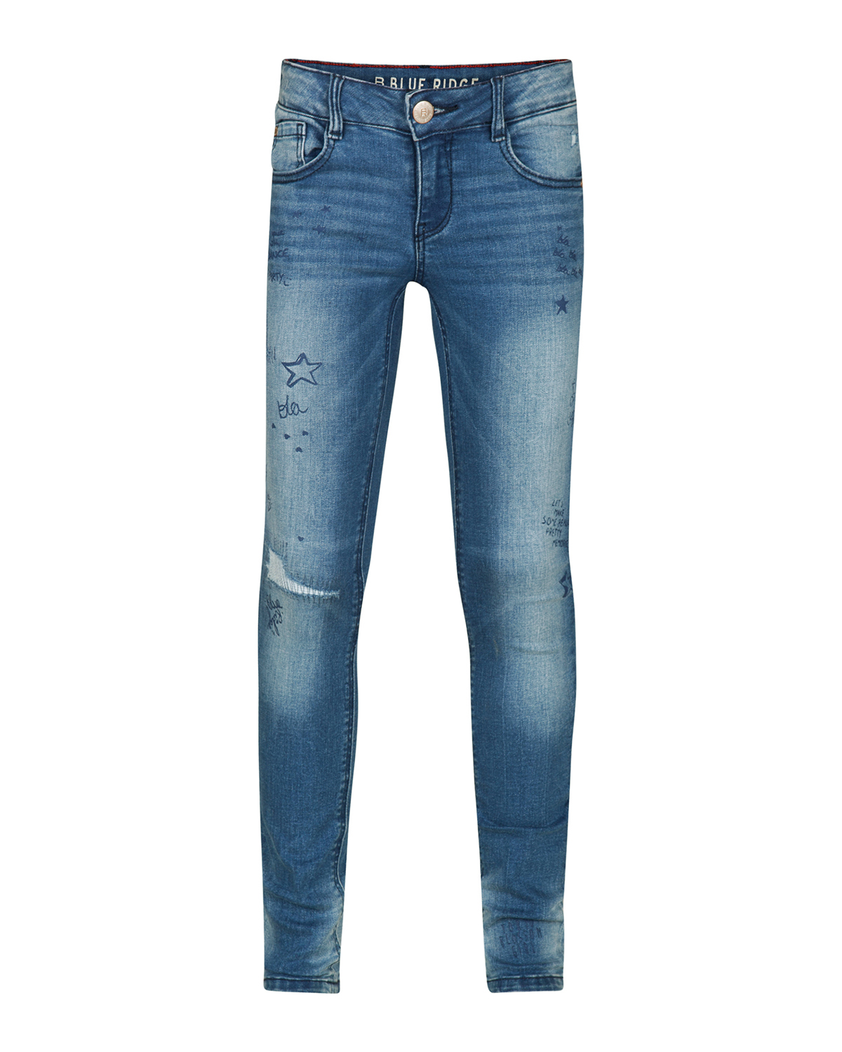 Meisjes super skinny super stretch scribble jeans