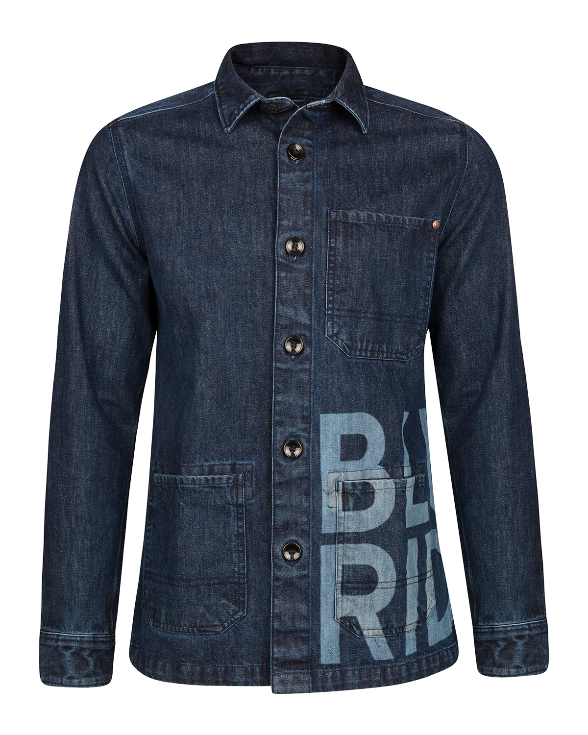 Heren blue ridge denim overhemd
