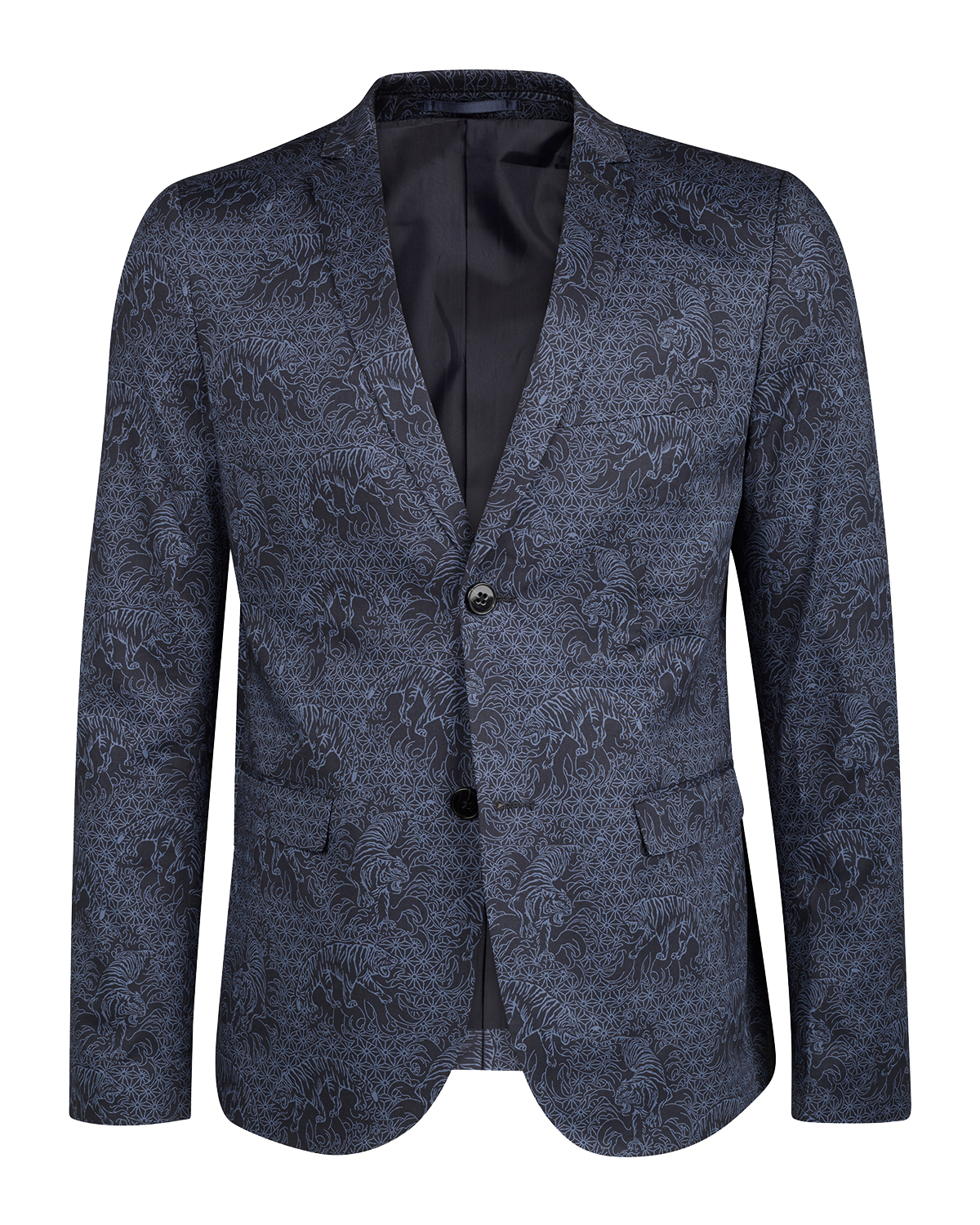 Heren skinny fit tiger blazer