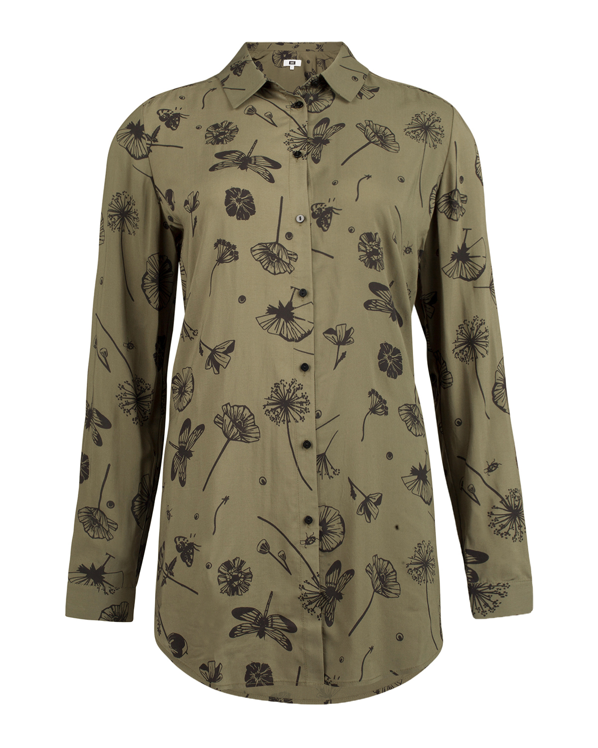 Dames leaves print blouse