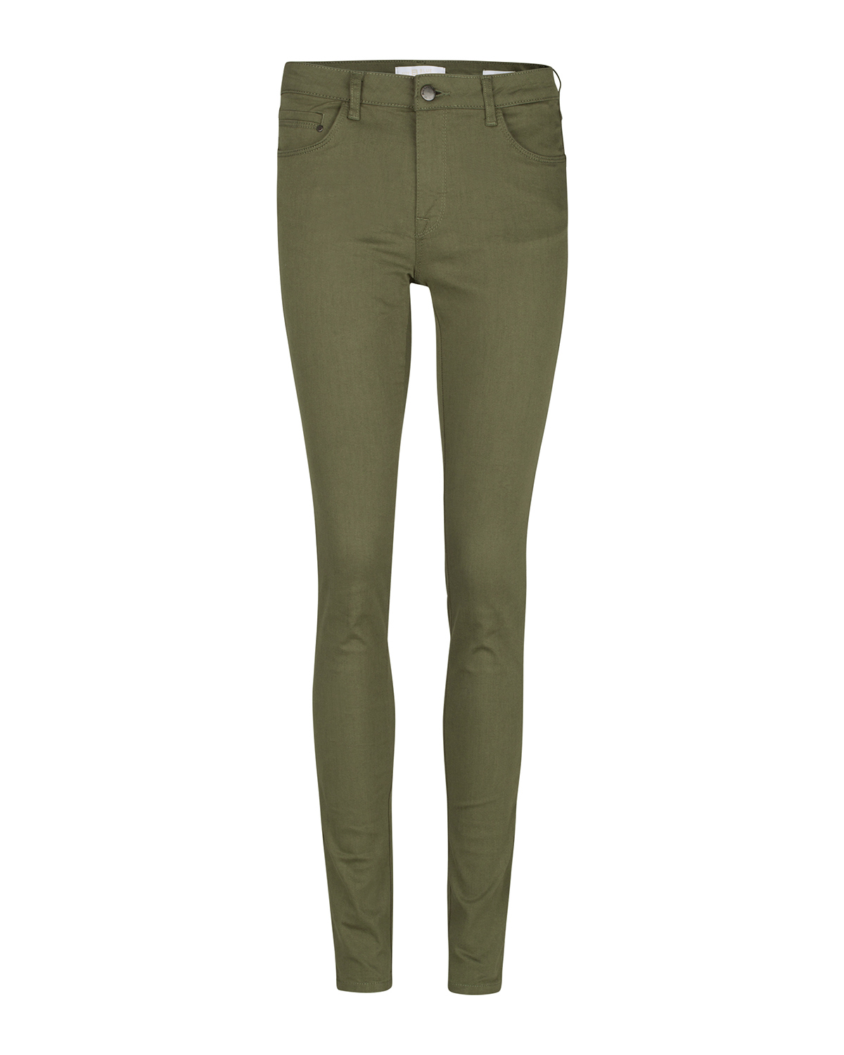 Dames mid rise skinny high stretch broek