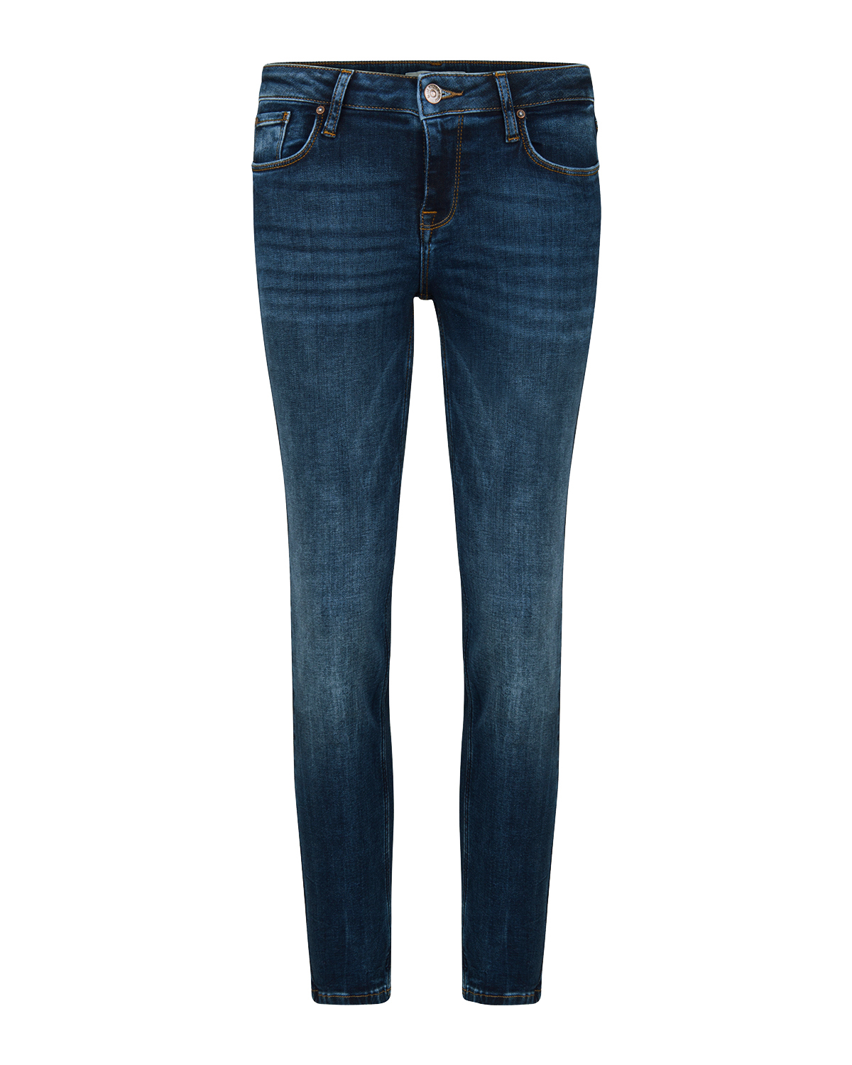 Dames mid rise skinny fit high stretch cropped jeans