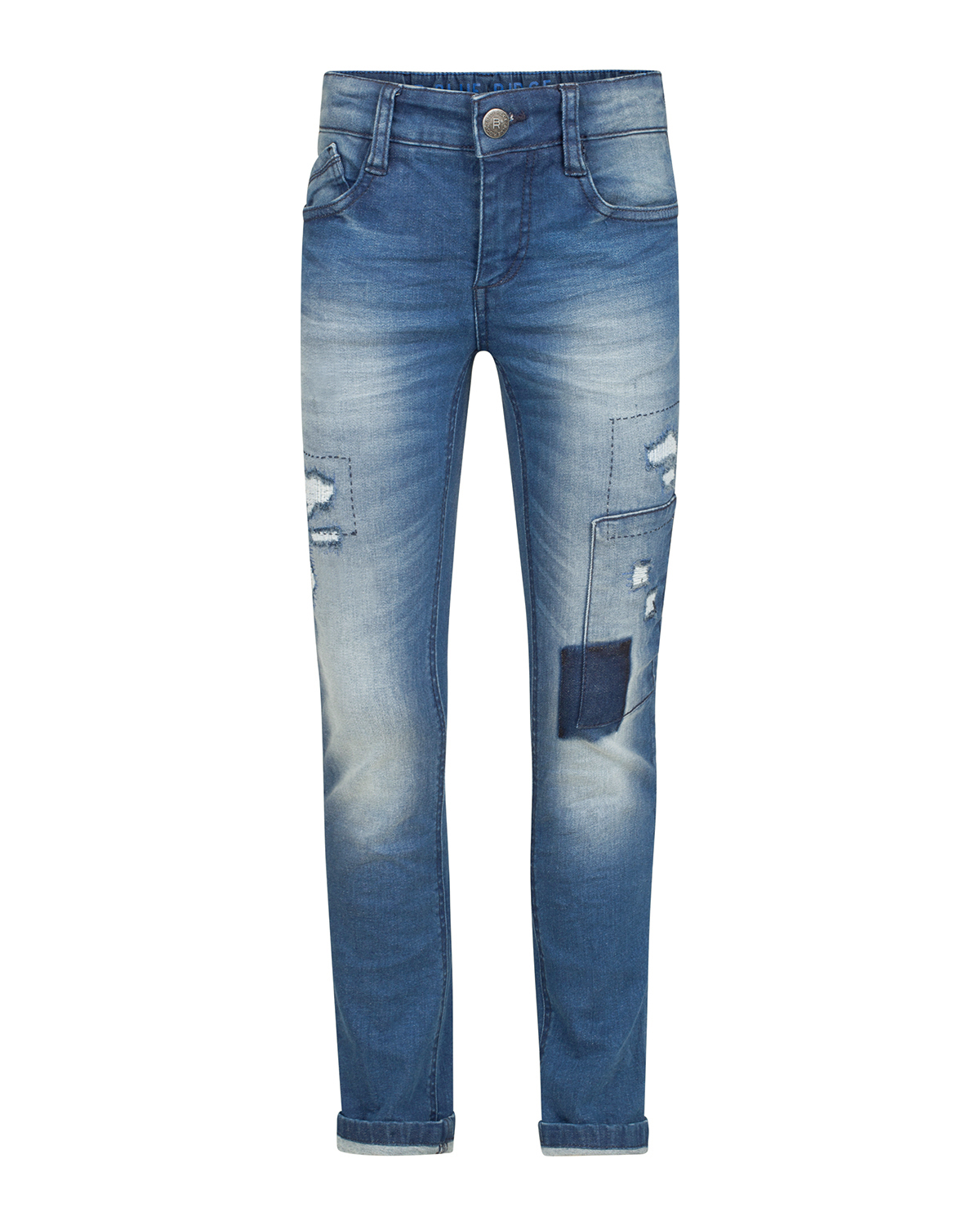 Jongens skinny power stretch rip  and  repair jeans
