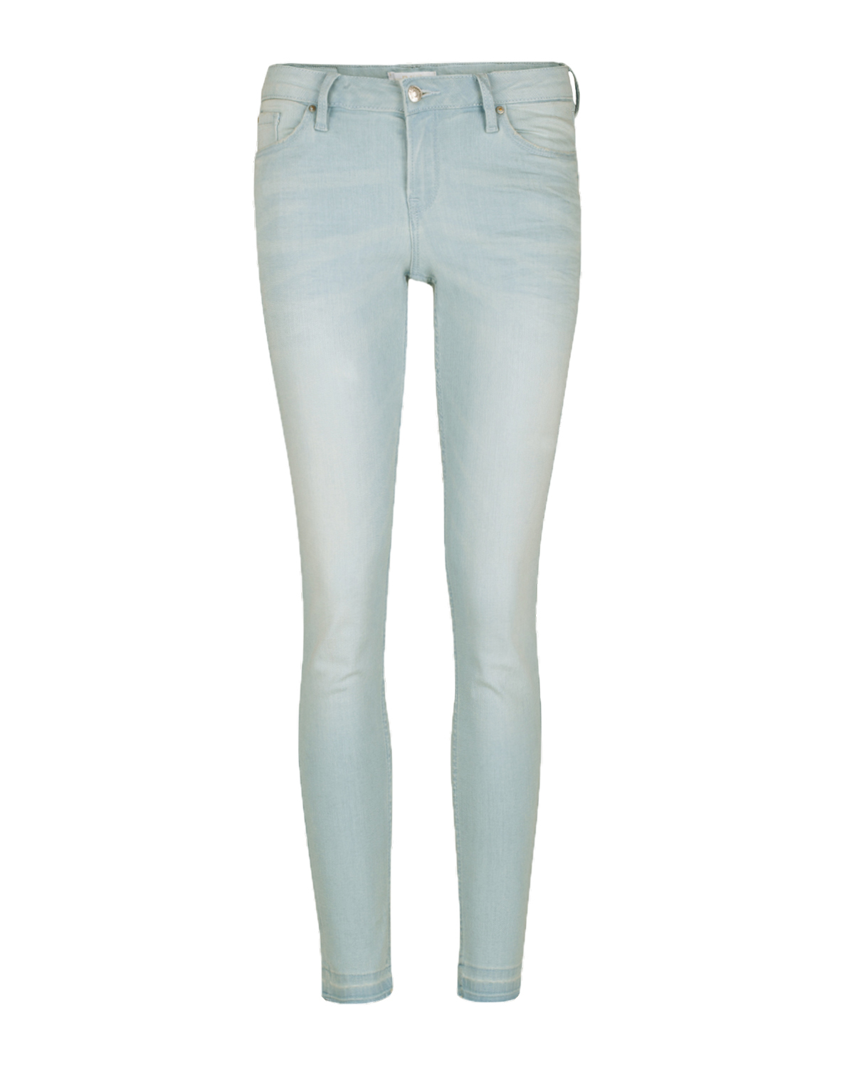 Dames mid rise skinny high stretch jeans