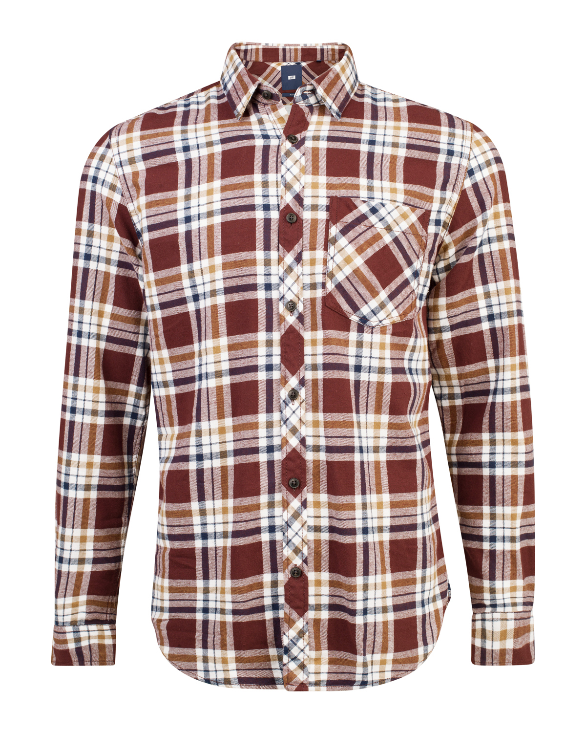 Heren relaxed fit flanel checked overhemd
