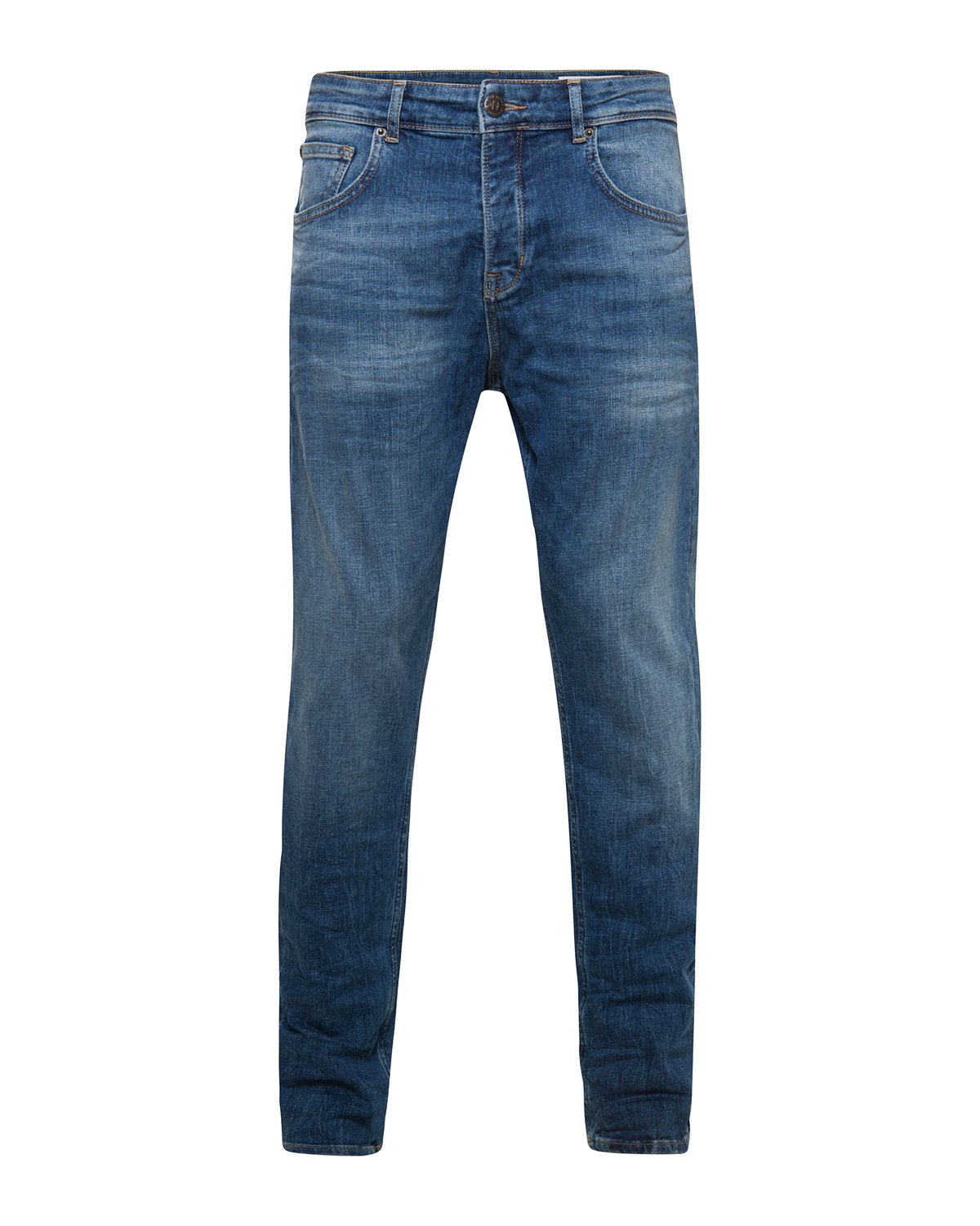 Heren loose tapered comfort stretch jeans