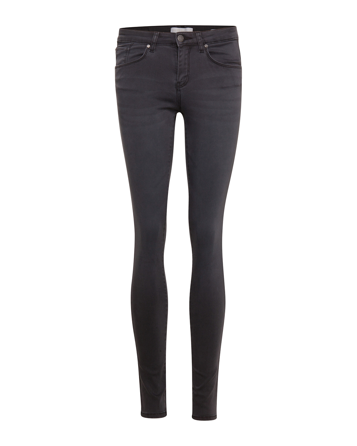 Dames super skinny sateen stretch broek