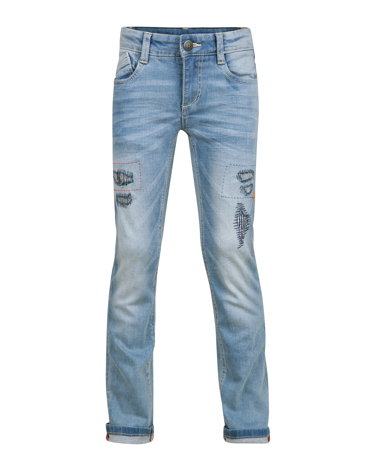 Jongens skinny fit power stretch rip  and  repair jeans