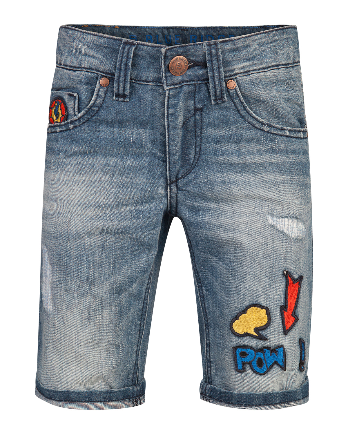 Jongens regular fit rip  and  repair short