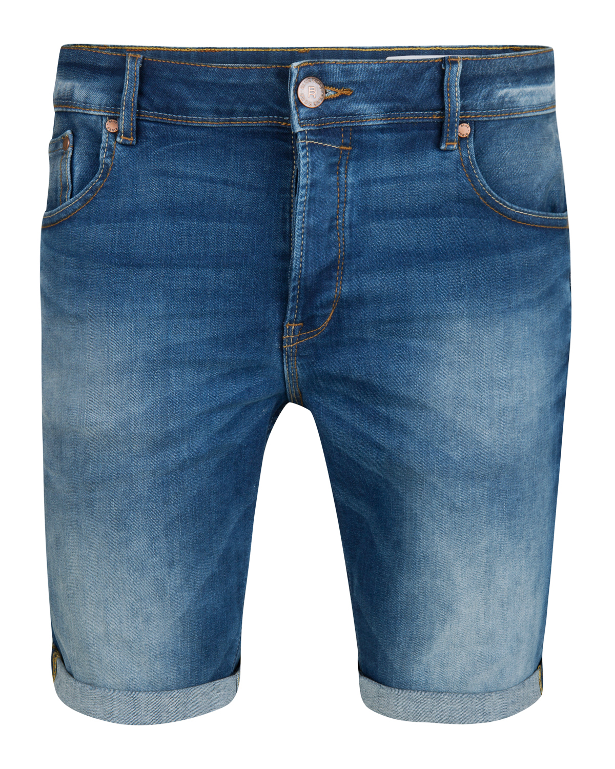 Heren regular fit denim short