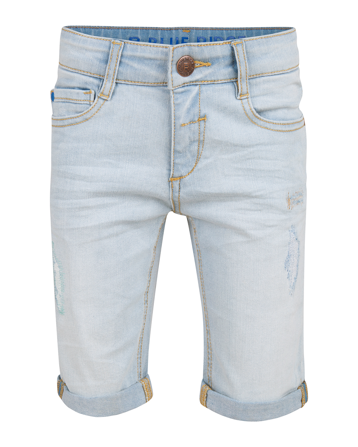 Jongens blue ridge repair denim short