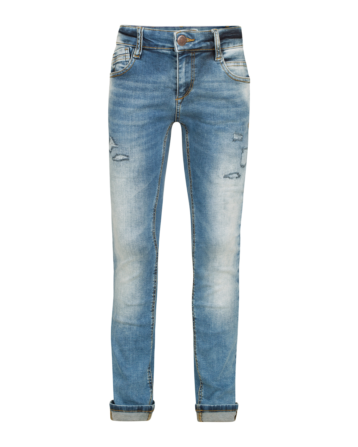 Jongens super skinny power stretch repair jeans
