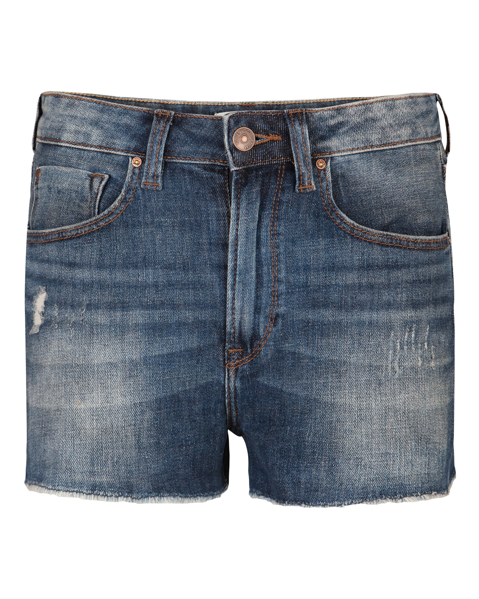 Dames high rise slim denim short