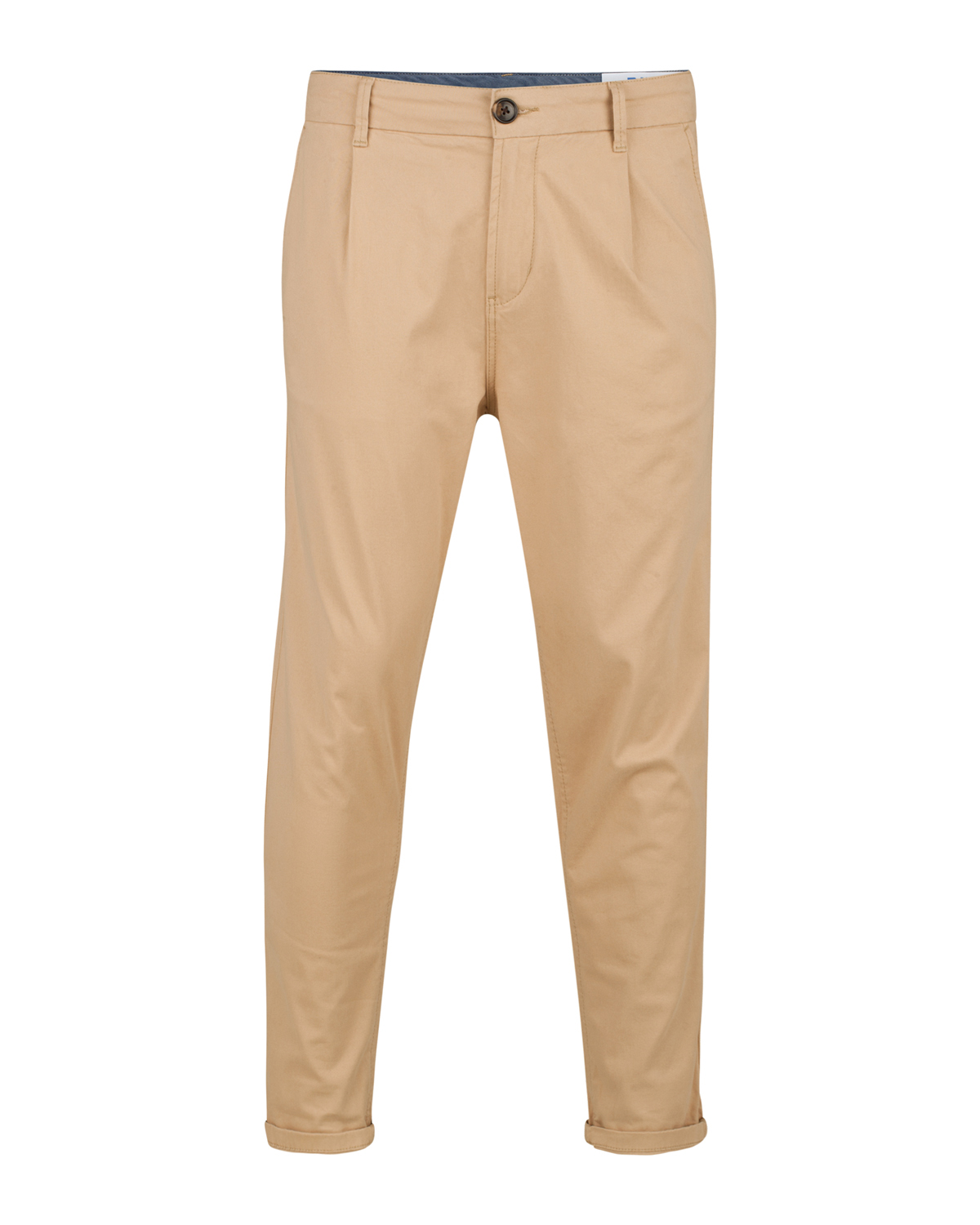 Heren loose fit pleat cropped chino